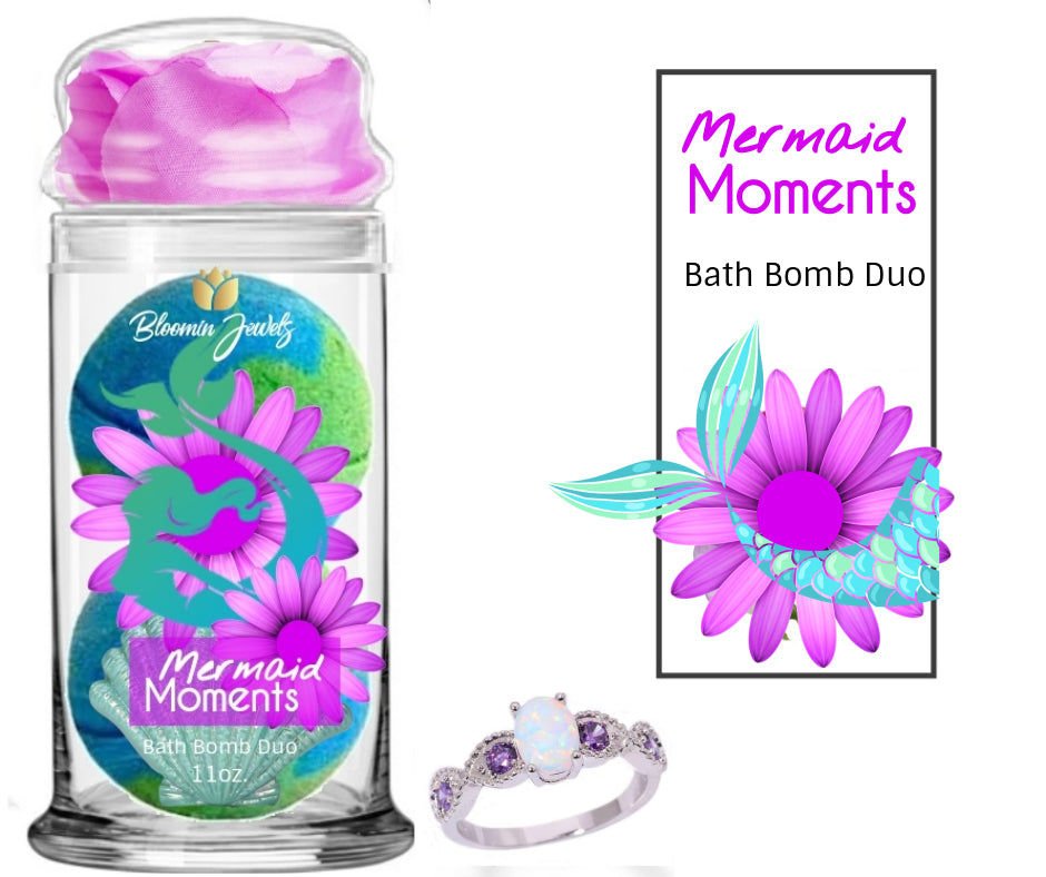 Mermaid Moments - Jewelry Bath Bomb Duo - Bloomin Jewels