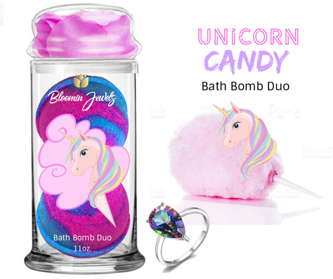 Unicorn Candy - Jewelry Bath Bomb Duo