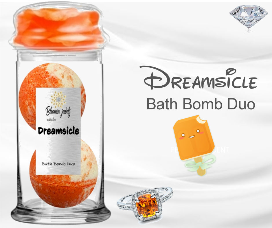 Dreamsicle -  Jewelry Bath Bomb duo
