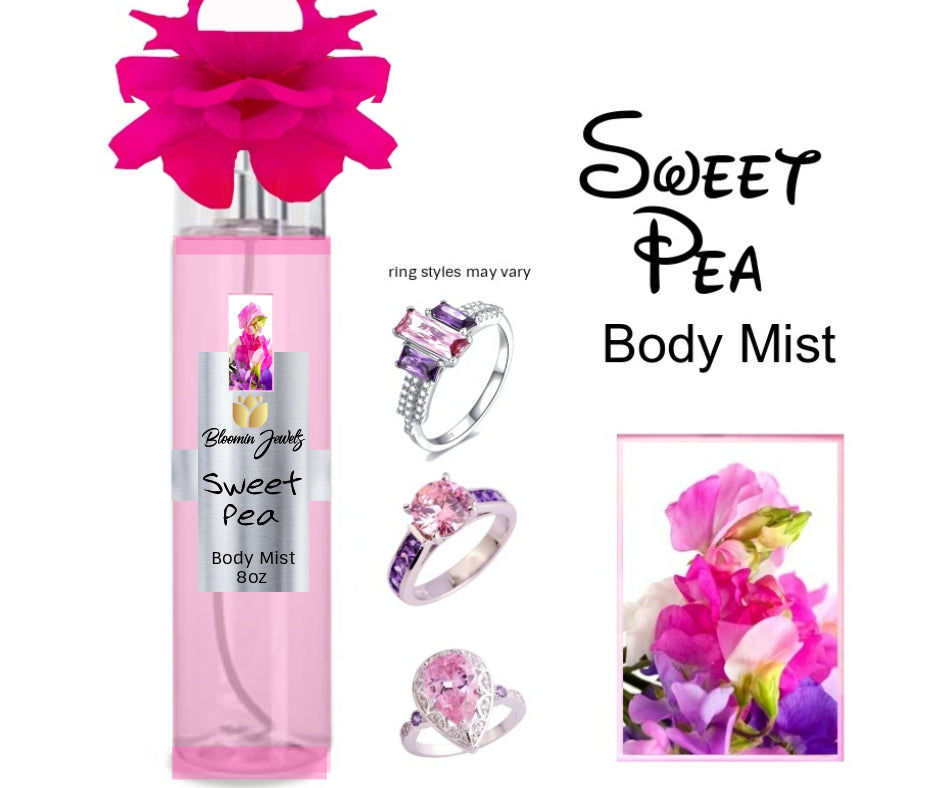 Sweet Pea - Jewelry Body Mist - Bloomin Jewels