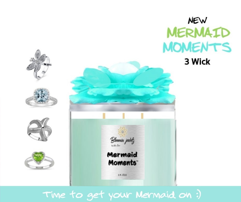 Mermaid Moments - 3 Wick Jewelry Candle