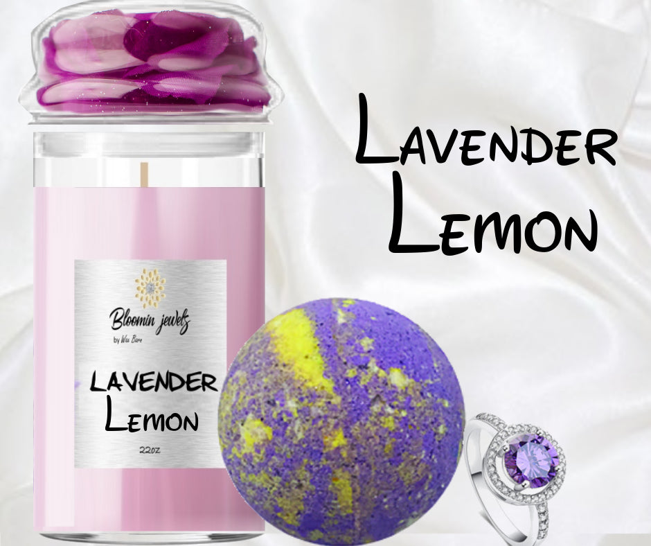 Lavender Lemon - Jewelry Candle & Bath Bomb Set
