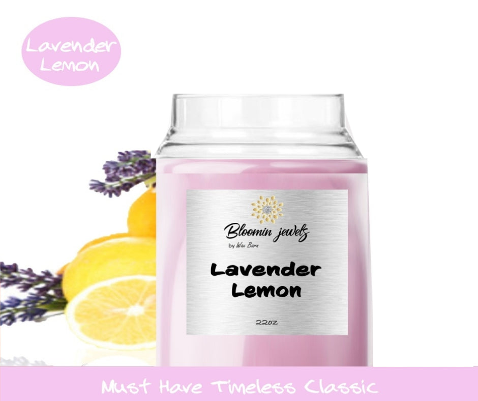 Lavender Lemon - Classic Candle - Bloomin Jewels