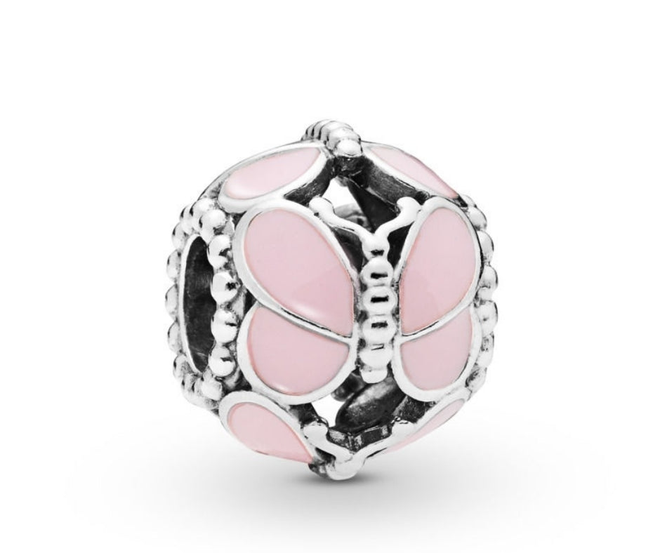 Pink Butterfly - Charm