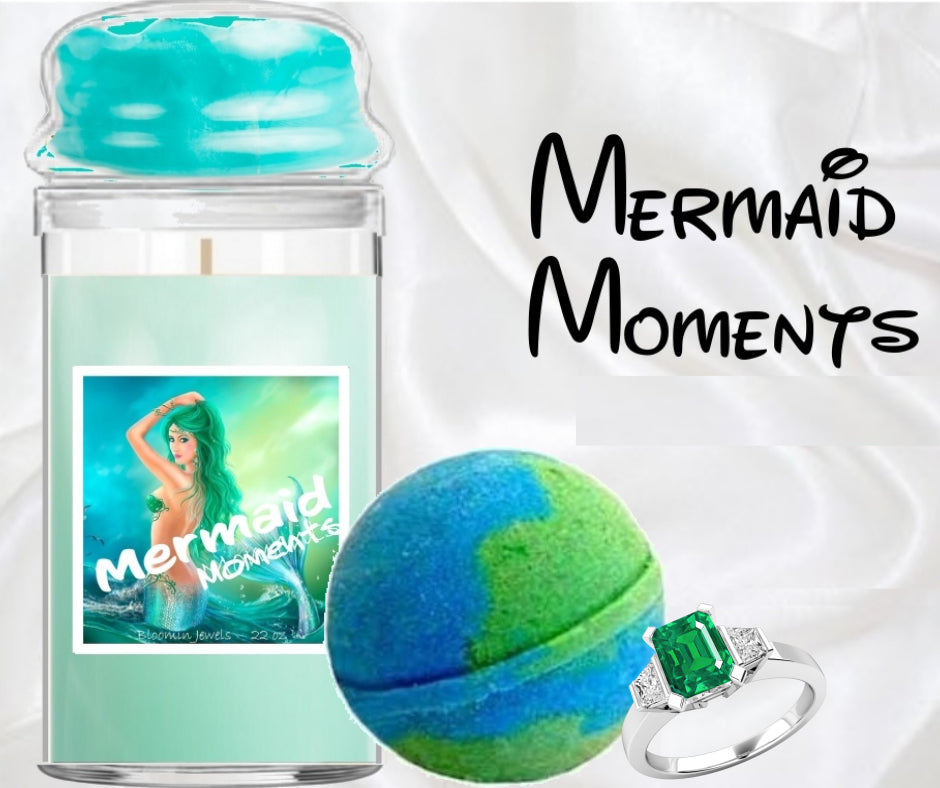Mermaid Moments - Jewelry Candle & Bath Bomb Set