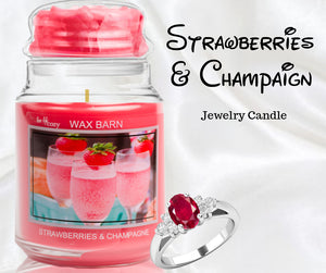 Strawberries & Champagne - Retired Label - Jewelry Candle