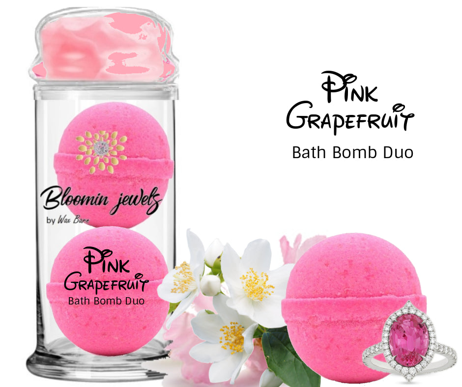 Pink Grapefruit -  Jewelry Bath Bomb duo