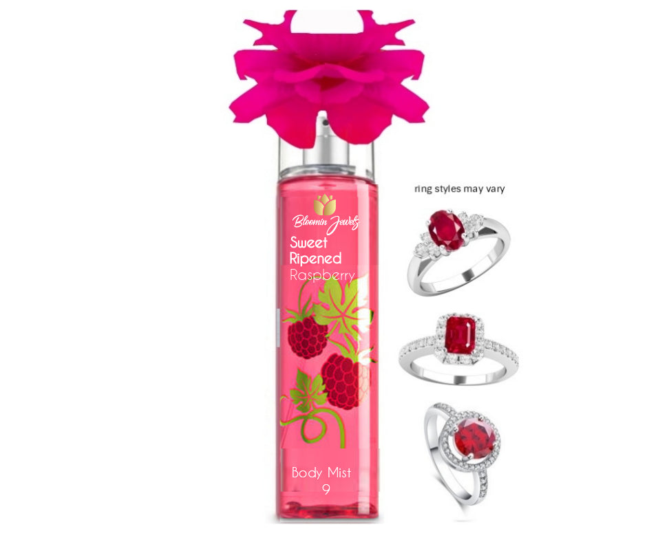 Sweet Ripened Raspberry  - Jewelry Body Mist