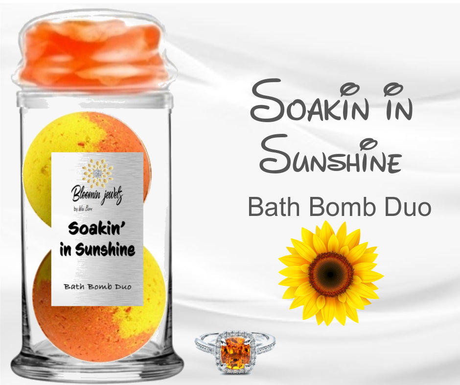 Soakin In Sunshine - Jewelry Bath Bomb Duo