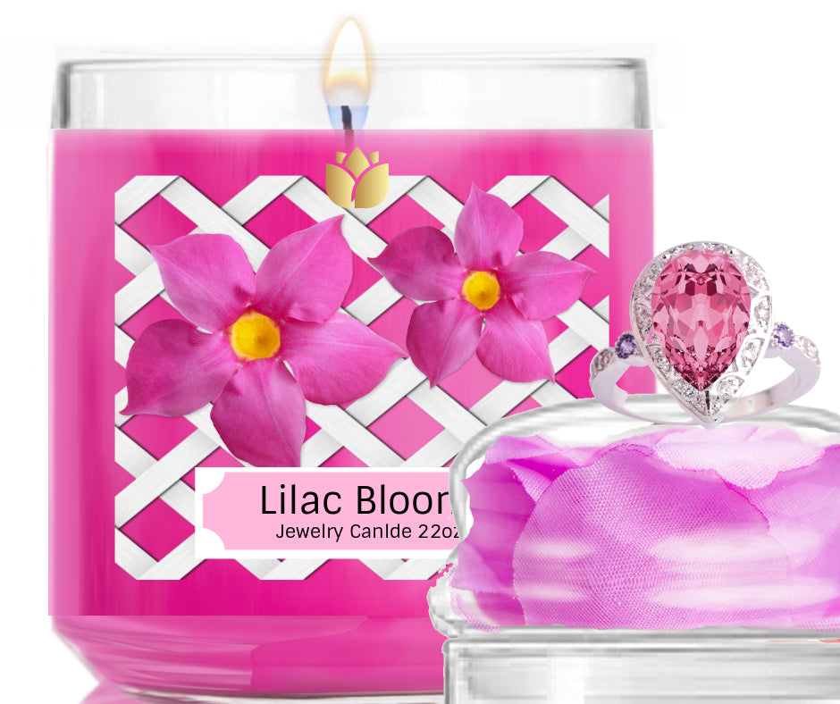 LIlac Blooms- Jewelry Candle