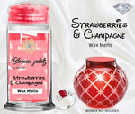 Strawberries & Champagne - Jewelry Jar Of Melts