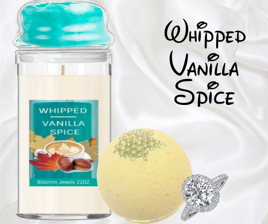 Whipped Vanilla Spice - Jewelry Candle and Bath Bomb Set
