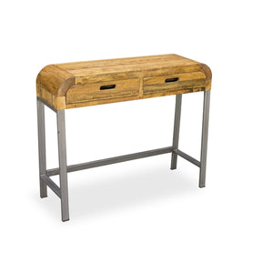 Madagascar industrial console table with 2 drawers on gunmetal legs madagascar industrial console table with 2 drawers on gunmetal legs cienega watchthetrailerfo
