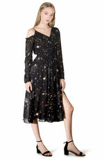 Nuuk dress black star dress chelsint Canadian designer
