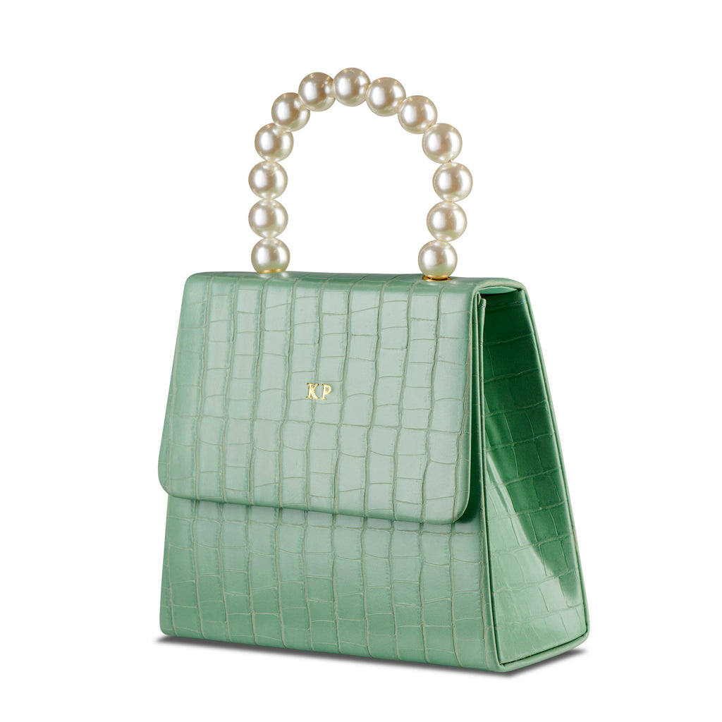 Mint Pearl Drop Handbag