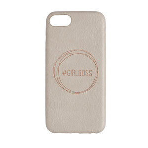"STONE GREY IPHONE CASE ""GIRL BOSS"""