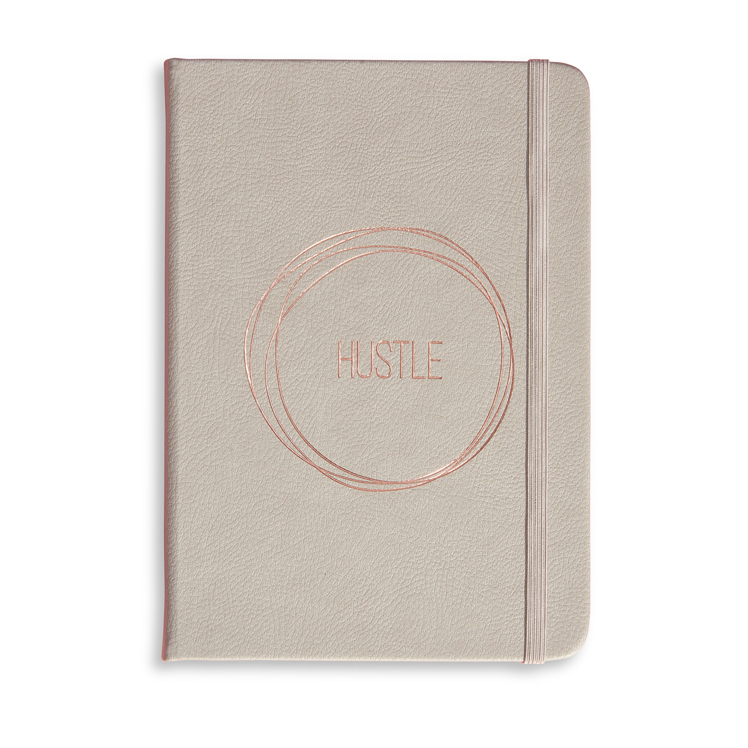 "A5 STONE GREY NOTEBOOK ""HUSTLE"""