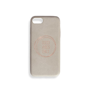 "STONE GREY IPHONE CASE ""GOOD VIBES ONLY"""
