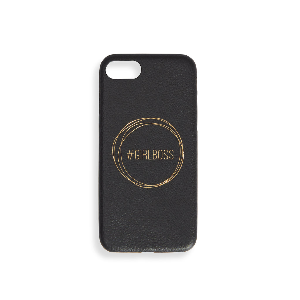 "BLACK IPHONE CASE ""GIRL BOSS"""