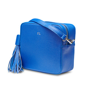 Royal Blue Vegan Leather Cross Body Bag
