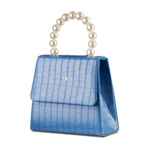Duck Egg Blue Pearl Drop Handbag