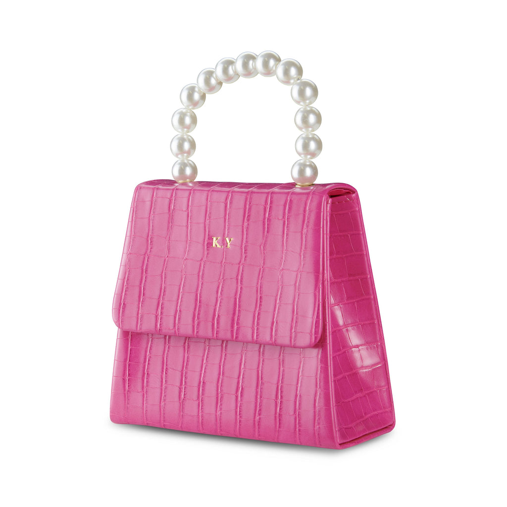 NEW! Hot Pink Pearl Drop Handbag