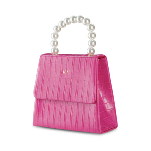 Hot Pink Pearl Drop Handbag