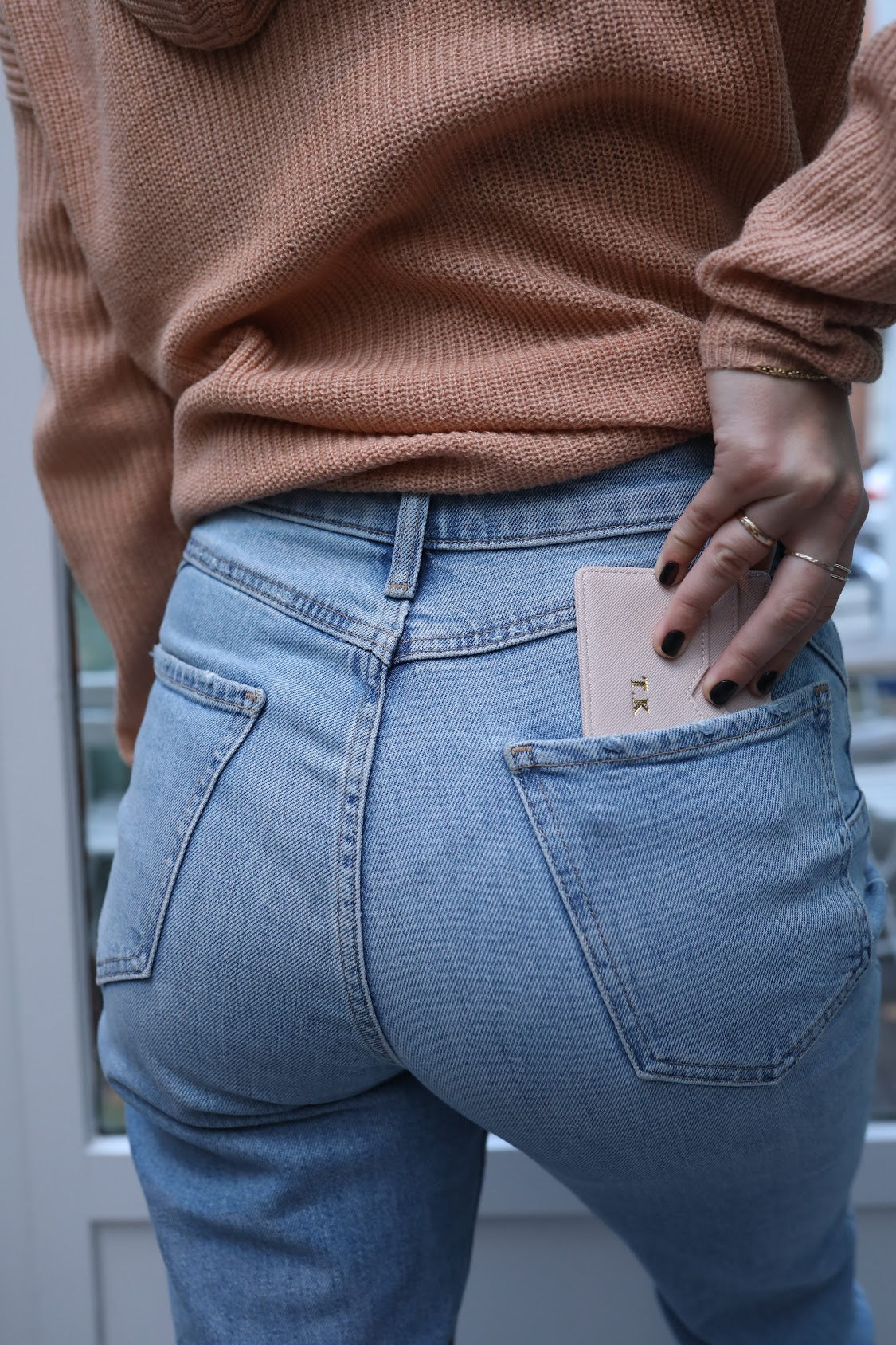 Blush Pink Vegan Leather Card Holder