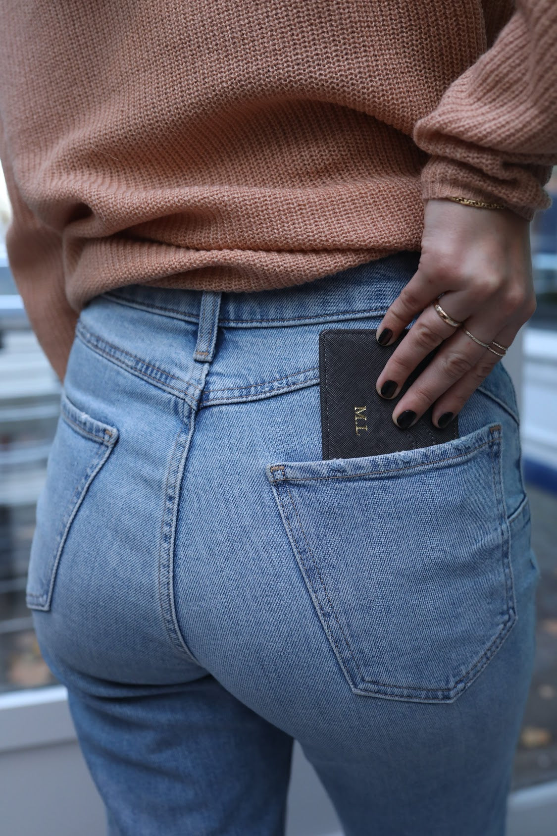 Black Vegan Leather Card Holder