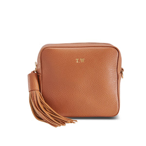 Tan Vegan Leather Cross Body Bag