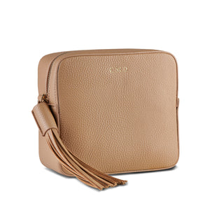 Back in stock! Taupe Vegan Leather Cross Body Bag