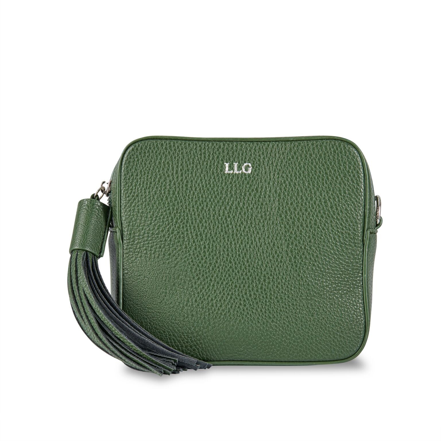 Olive Green Vegan Leather Cross Body Bag