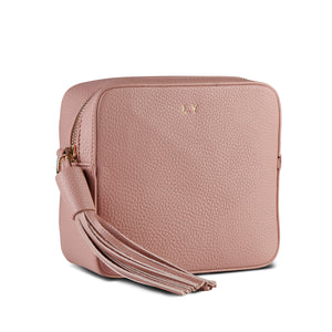 Back in stock! Blush Pink Vegan Leather Cross Body Bag