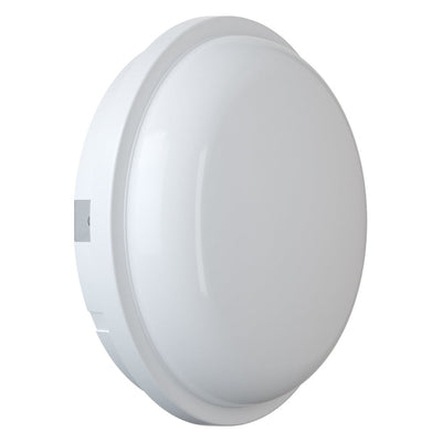 SOHO 15W LED Bulkhead Light IP65 Outdoor Indoor Wall Ceiling Round White