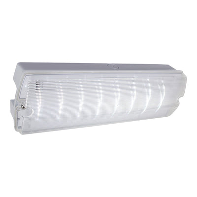 3.2W IP65 LED Emergency Bulkhead Light Fire Exit Sign Legend 3hr Maintained
