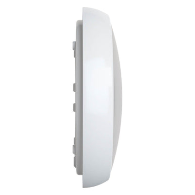 EUSTON 14W LED Emergency Microwave Sensor Maintained / Non Maintained Round Corridor Bulkhead Light 3HR White IP54