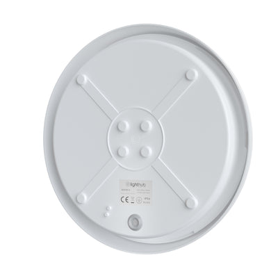 EUSTON 14W LED Standard Round Dome Bulkhead Light White IP54 Commercial Bathroom Utility Wall Ceiling