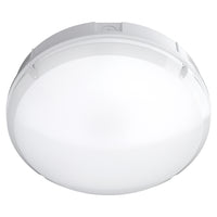 BALHAM 12W LED Emergency Maintained / Non Maintained Round Corridor Bulkhead Light 3HR White IP65