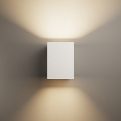 SARK Up Down Plaster Uplighter Wall Mounted Paintable Gypsum Indoor Light G9