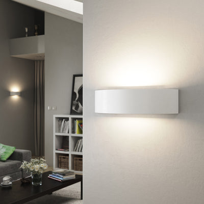 MILLBANK Up Down Plaster Uplighter Wall Mounted Paintable Gypsum Indoor Light SES