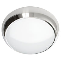 DALSTON 17W LED Emergency Microwave Motion Sensor Maintained Tri-Colour CCT Round Corridor Bulkhead Light Chrome 3HR IP65
