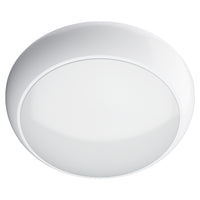 DALSTON 17W LED Standard 4000K Round Dome Bulkhead Light White IP65 Commercial Bathroom Utility Wall Ceiling