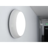 DALSTON 17W LED Microwave Motion Sensor Tri-Colour CCT Round Corridor Ceiling Bulkhead Light White IP65