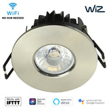 WiZ Smart App Wifi IFTTT Downlight LED CCT Dimmable IP65 Fire Rated Satin Nickel