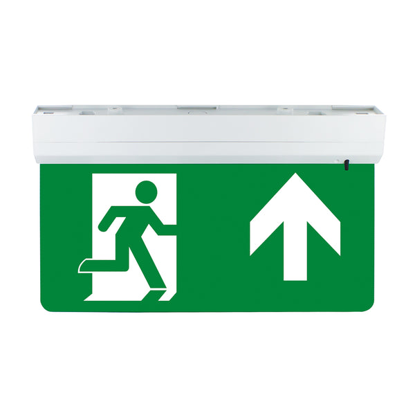 Emergency Fire Exit Sign LED Wall Ceiling Mounted Maintained Running Man Arrow Kit