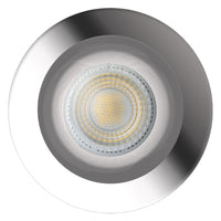 Low Profile Fire Rated Downlight LED IP65 7W Dimmable Warm or Cool White - Polished Chrome