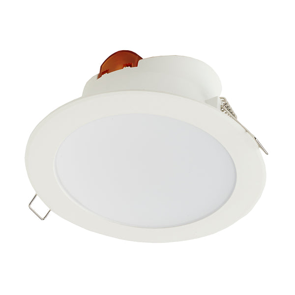 8W Emergency LED CCT Downlight Tri-Colour Round Retail Shop Dimmable Ceiling Spot Light IP44