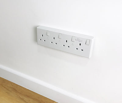 Electrical Wall Socket Converter 1 or 2 Gang to 4 Gang