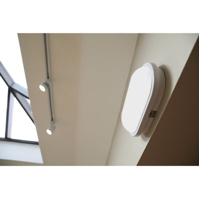 SOHO 15W LED Bulkhead Light IP65 Outdoor Indoor Wall Ceiling Oval White