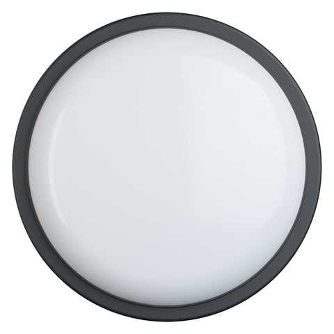 SOHO LED Bulkhead Light IP65 Outdoor Wall Ceiling Round Black Trim Fitting